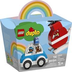 LEGO® DUPLO® Creative Play 10957 Helicóptero de Bomberos y Coche de Policía