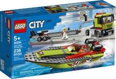 LEGO® City Great Vehicles 60254 Transporte de la Lancha de Carreras