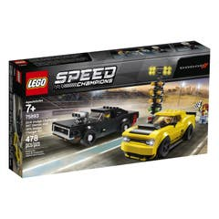 LEGO® Speed Champions 75893 Dodge Challenger SRT Demon de 2018 y Dodge Charger R/T de 1970