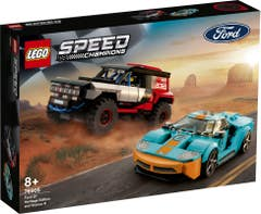 LEGO® Speed Champions 76905 Ford GT Heritage Edition and Bronco R
