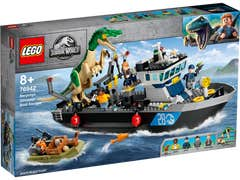 LEGO Jurassic World Escape del Barco del Dinosaurio Baryonyx 76942